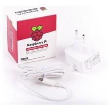 CARGADOR RASPBERRY 5.1V MICRO USB-C 3A BLANCO