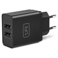 1LIFE Cargador doble de pared con 2 puerto USB