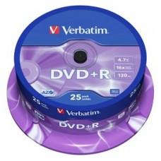 DVD+R VERBATIM 4.7GB 16X ADV AZO PACK 25U