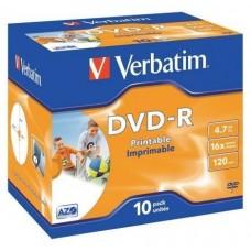 DVD-R VERBATIM -R 16X 4.7GB PK.10 PRINTABLES
