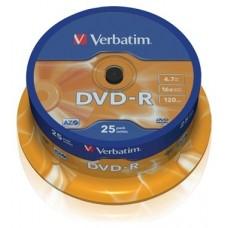DVD-R VERBATIM 16X 4.7GB TARRINA 25U