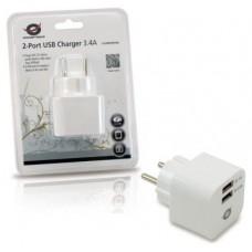 CARGADOR 2X USB CONCEPTRONIC PARED 3.4A (Espera 4 dias)