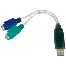 ADAPTADOR DIGITUS USB A PS/2 2X MINI-DIN 6 H USB A/M