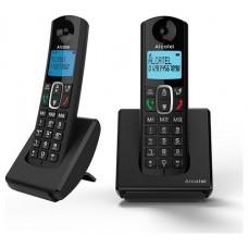 Alcatel F680 Duo Teléfono DECT Negro Identificador de llamadas (Espera 4 dias)