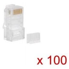 CONECTOR CAT.6 LANBERG UTP 8P8C PACK 100 UDS